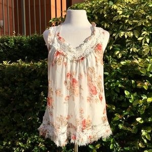 Lacey Rose Print Tank Top